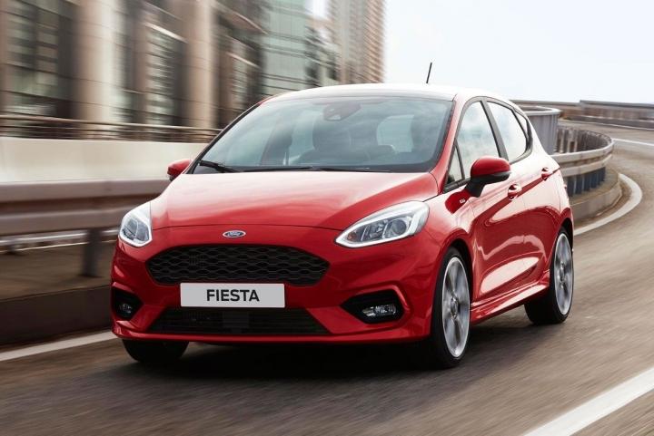 Voorkant nieuwe Ford Fiesta